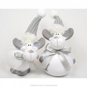Mooie Set Rudolf in Wit/zilver